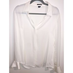 THEORY | White Silk Button-up (Women's)